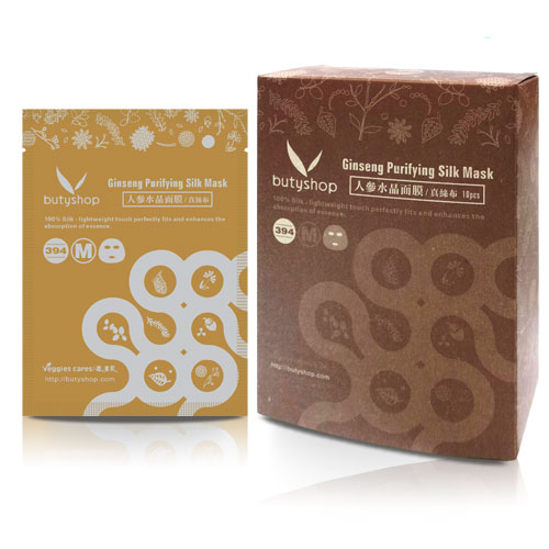 butyshop 人參水晶面膜-真絲布 Ginseng Purifying Gel Mask (10片)