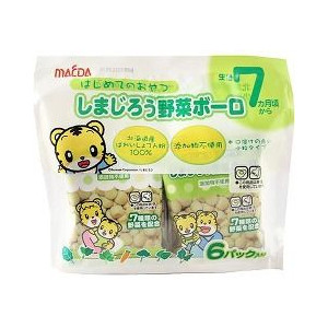 大阪前田6袋嬰兒蛋酥-野菜 84g