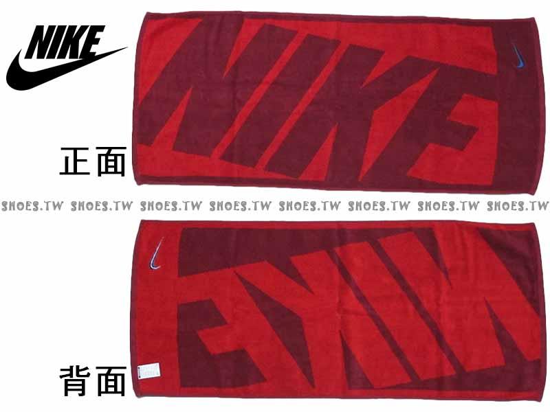 Shoestw【AC9647-616】NIKE毛巾 運動毛巾 盒裝 紅 純棉 2016新款