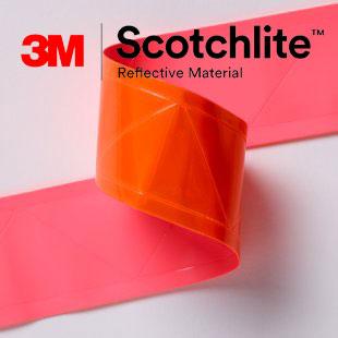 【safetylite安心生活館】《滿899免運、滿千贈禮》3M Scotchlite 6196 反光晶格帶 反光條 反光材料 5CM寬【橘色反光條、可水洗反光布】適用於衣料