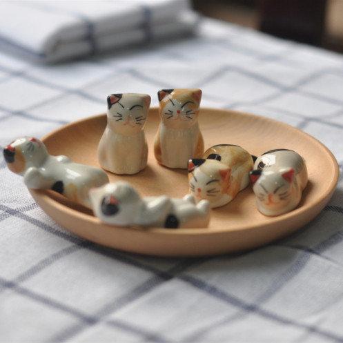 日系可愛貓咪陶瓷擺飾(隨機搭配)