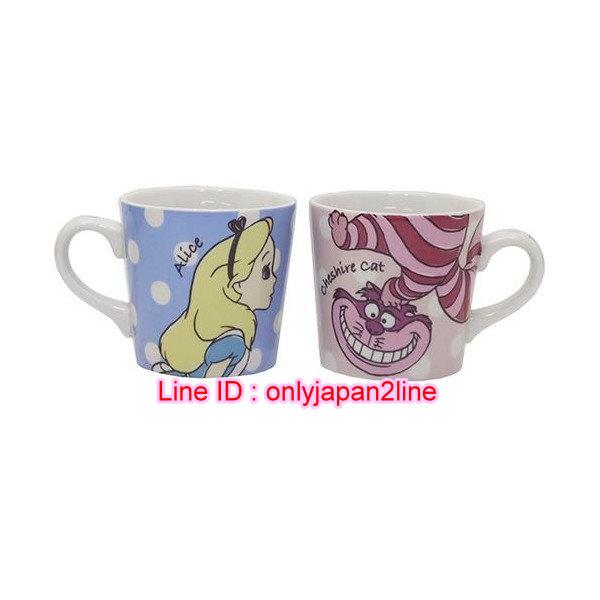 【真愛日本】16101300071 陶瓷馬克對杯組-艾莉絲妙妙貓  迪士尼 愛麗絲夢遊仙境 水杯 茶杯