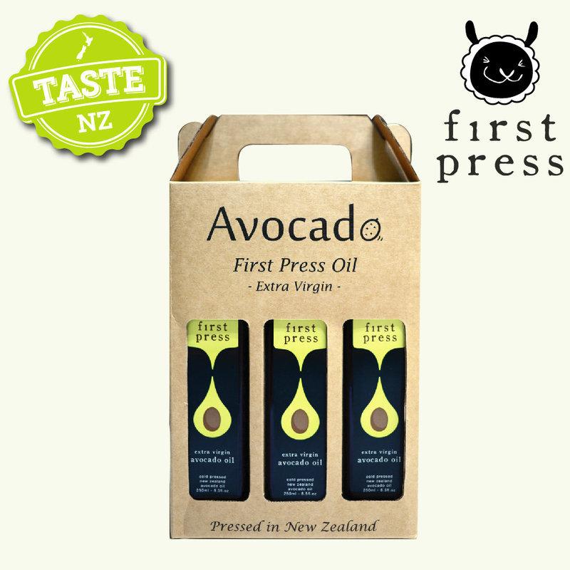 【壽滿趣- 紐西蘭原裝進口】First Press頂級冷壓初榨酪梨油(250ml 三瓶禮盒裝)