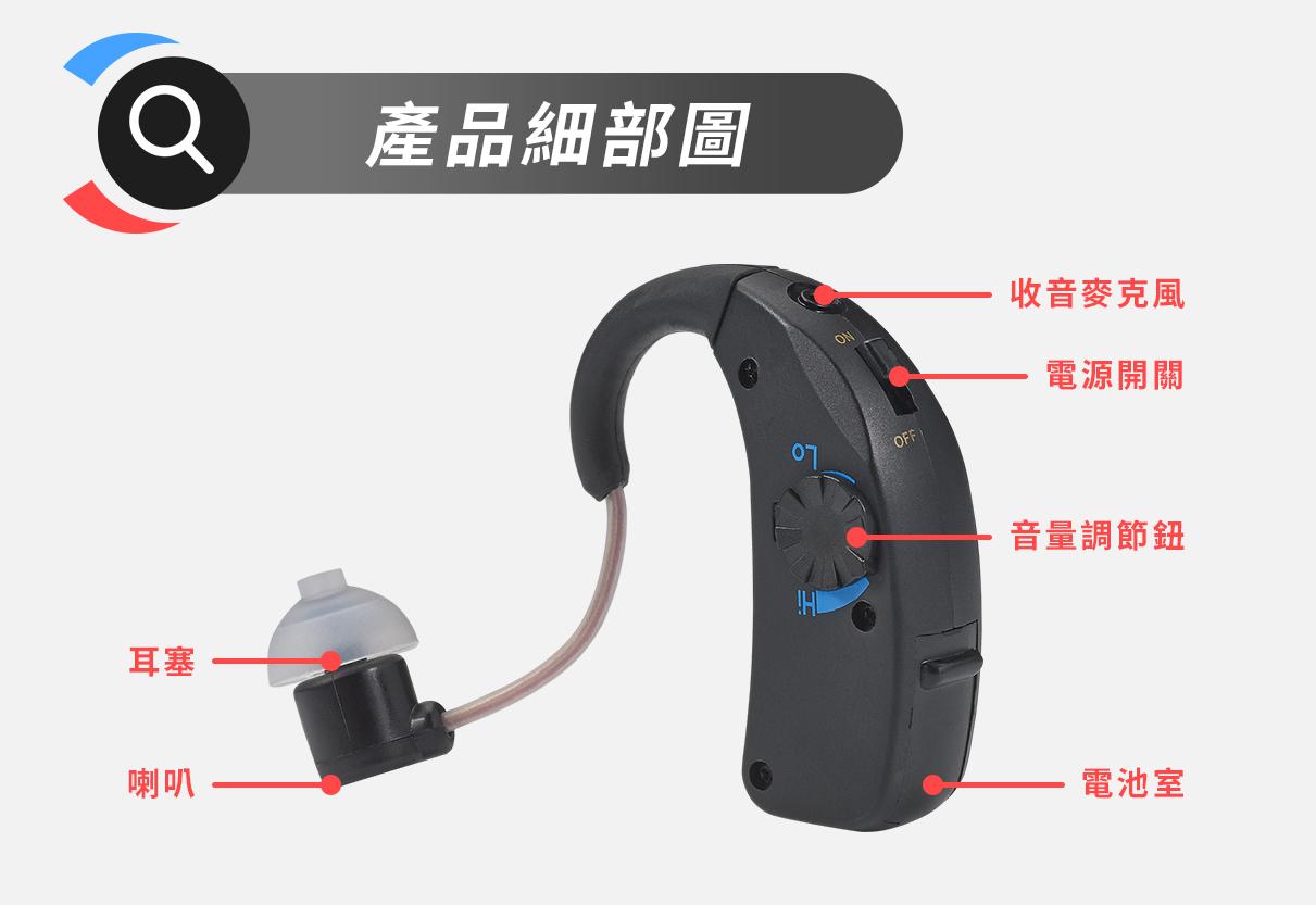 耳寶 助聽器(未滅菌)★Mimitakara 充電耳掛式雙耳款助聽器 6ETS