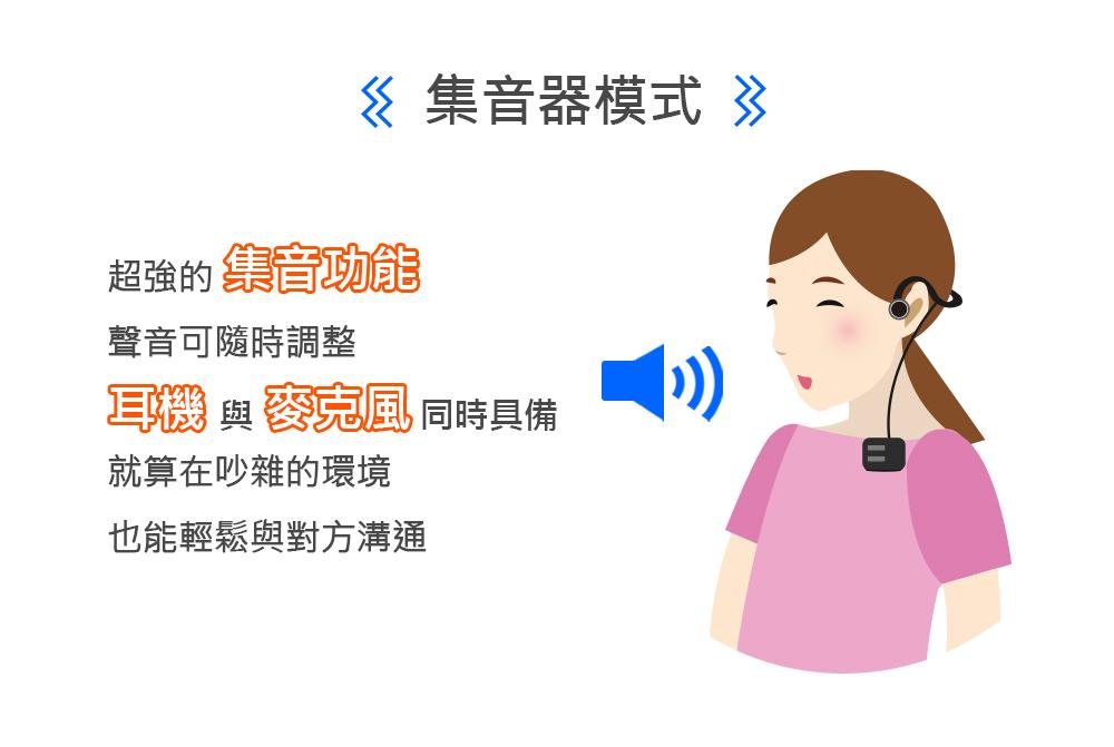 耳寶 6K44 藍牙骨導集音器 集音器模式