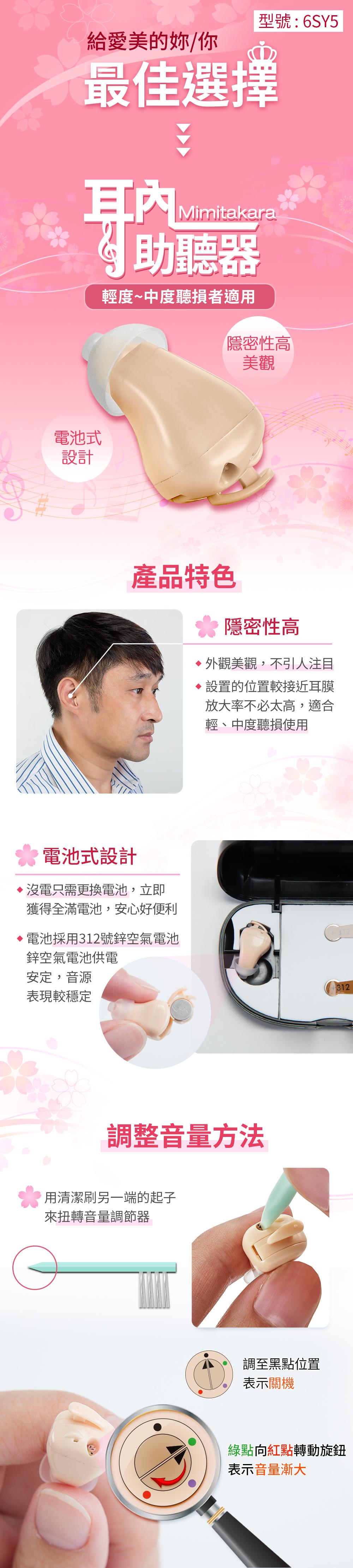 耳寶,6SY5,補助資訊,助聽器