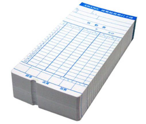 台製 AMANO 六欄位 打卡鐘卡片 1包 100入適用AY3700/AY3800/AY3680/EX3500