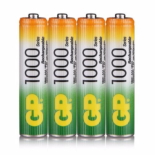 {光華成功NO.1} GP低自放鎳氫充電池4號1000mAh (4入) (BAT-GPB-1000AAA-C4)  喔!看呢來