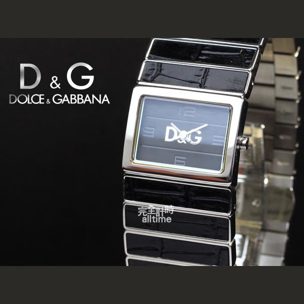 【完全計時】手錶館│D&G 摩登時尚 黑色皮革特殊錶帶 時尚腕錶 推薦女錶 DW0080