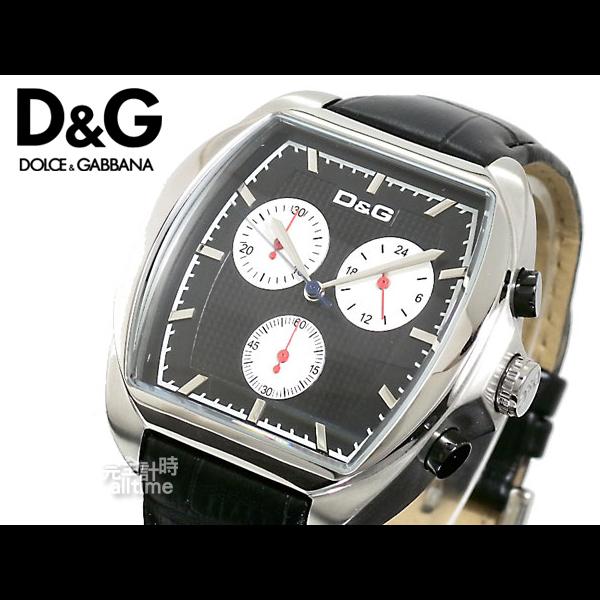 【完全計時】手錶館│D&G計時功能腕錶 時尚三眼 推薦DW0429全新下殺