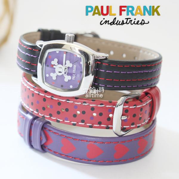 【完全計時】手錶館│Paul Frank Julius 大嘴猴時尚混搭腕錶 暗黑搖滾IBSK0214