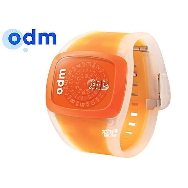 【完全計時】手錶館│ ODM 橘子蘇打 果凍唱片轉盤腕錶 odmdd100-4