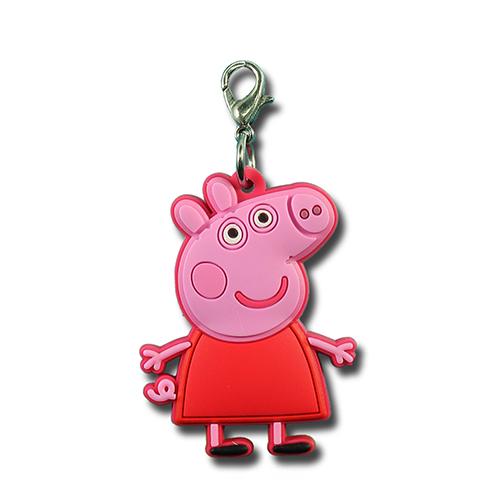 粉紅豬小妹吊飾/ Peppa Zipper Pull/ 粉紅豬小妹/ Peppa Pig/ 伯寶行