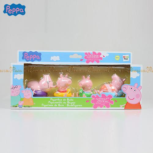 ★衛立兒生活館★【Peppa Pig】粉紅豬小妹 家庭洗澡公仔組PE36003