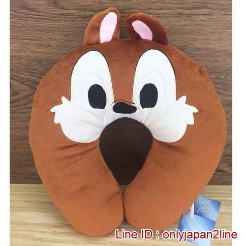 【真愛日本】16120300005造型頸枕-奇奇  迪士尼 花栗鼠 奇奇蒂蒂 松鼠 頸枕 枕頭 居家用品 汽車用品
