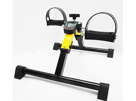 運動復健腳踏器/ 單車腳踏器/ 室內腳踏車-附多功能顯示器(可折疊)(黃色)