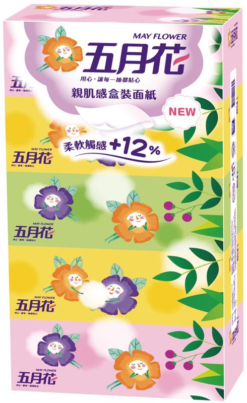 May Flower 五月花親肌感盒裝面紙160抽x5盒x10串箱 康鄰超市好康物廉