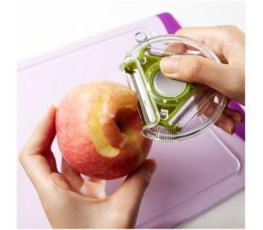 多功能旋轉削皮器 切菜器削皮刀 刨絲器 去皮刀 不挑色