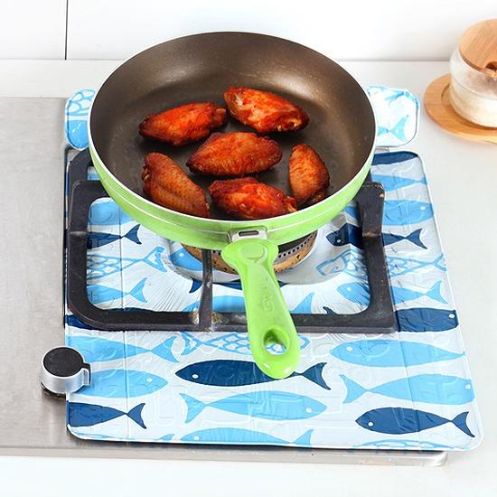?MY COLOR?印花加厚鋁箔防油墊 瓦斯爐 烹飪 煎魚 隔熱 防濺 油汙 汙垢 廚房 油煙【H25】