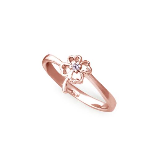 大東山珠寶 純銀幸運戒指 玫瑰金