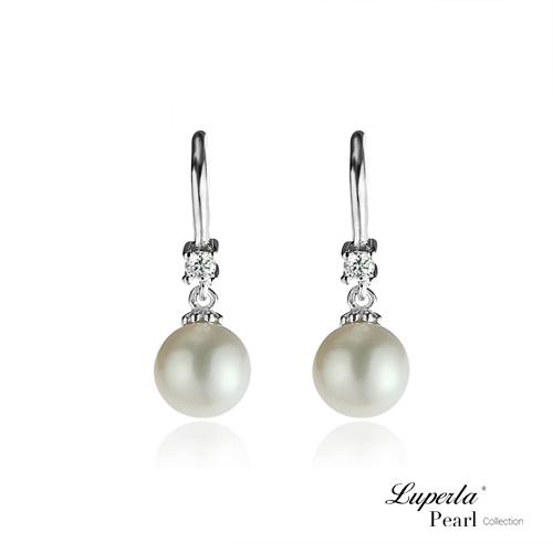 大東山珠寶 經典晶鑽明珠 天然珍珠耳環 經典特圓