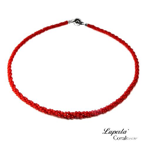 大東山珠寶 天然全紅沙丁珊瑚項鍊 3條轉19003