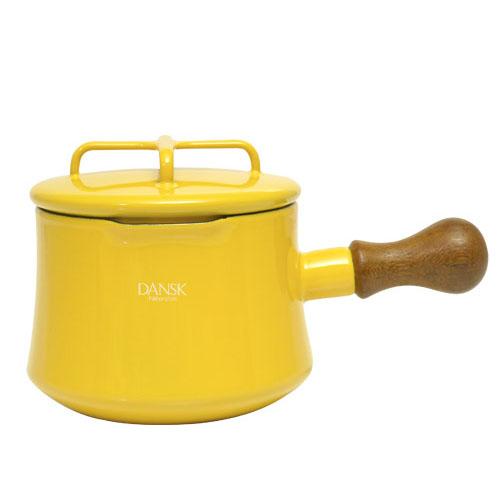 日本 DANSK 琺瑯牛奶鍋 1000ml 黃色