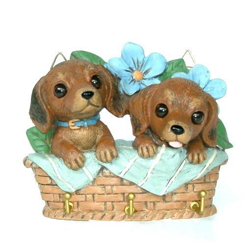可愛臘腸小狗造型掛飾
