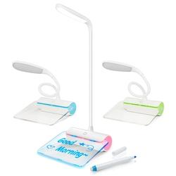 【迪特軍3C】台灣品牌 aibo USB充電式 LED檯燈夜光留言板 三檔亮度檯燈 創意夜光留言板 (綠)(USB-65)