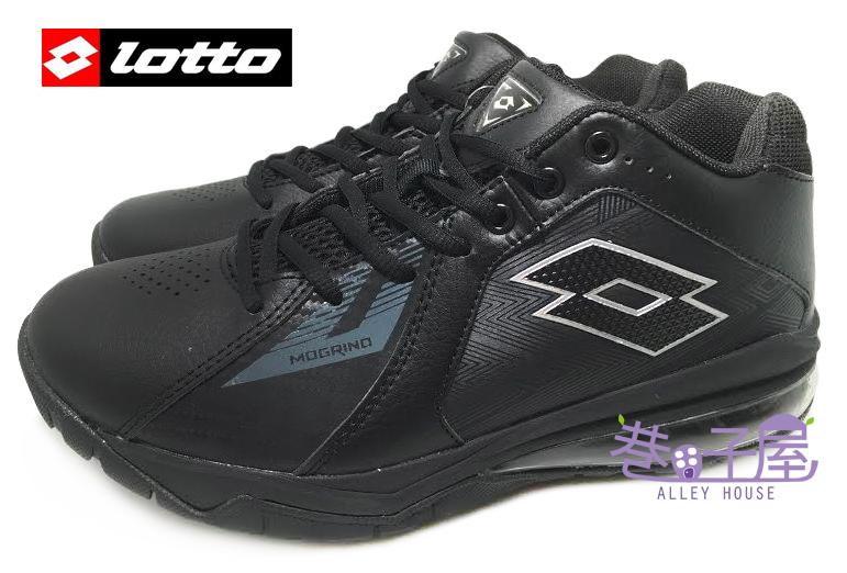 【巷子屋】義大利第一品牌-LOTTO樂得 男款刀鋒戶外氣墊籃球鞋 [2600] 黑 超值價$690