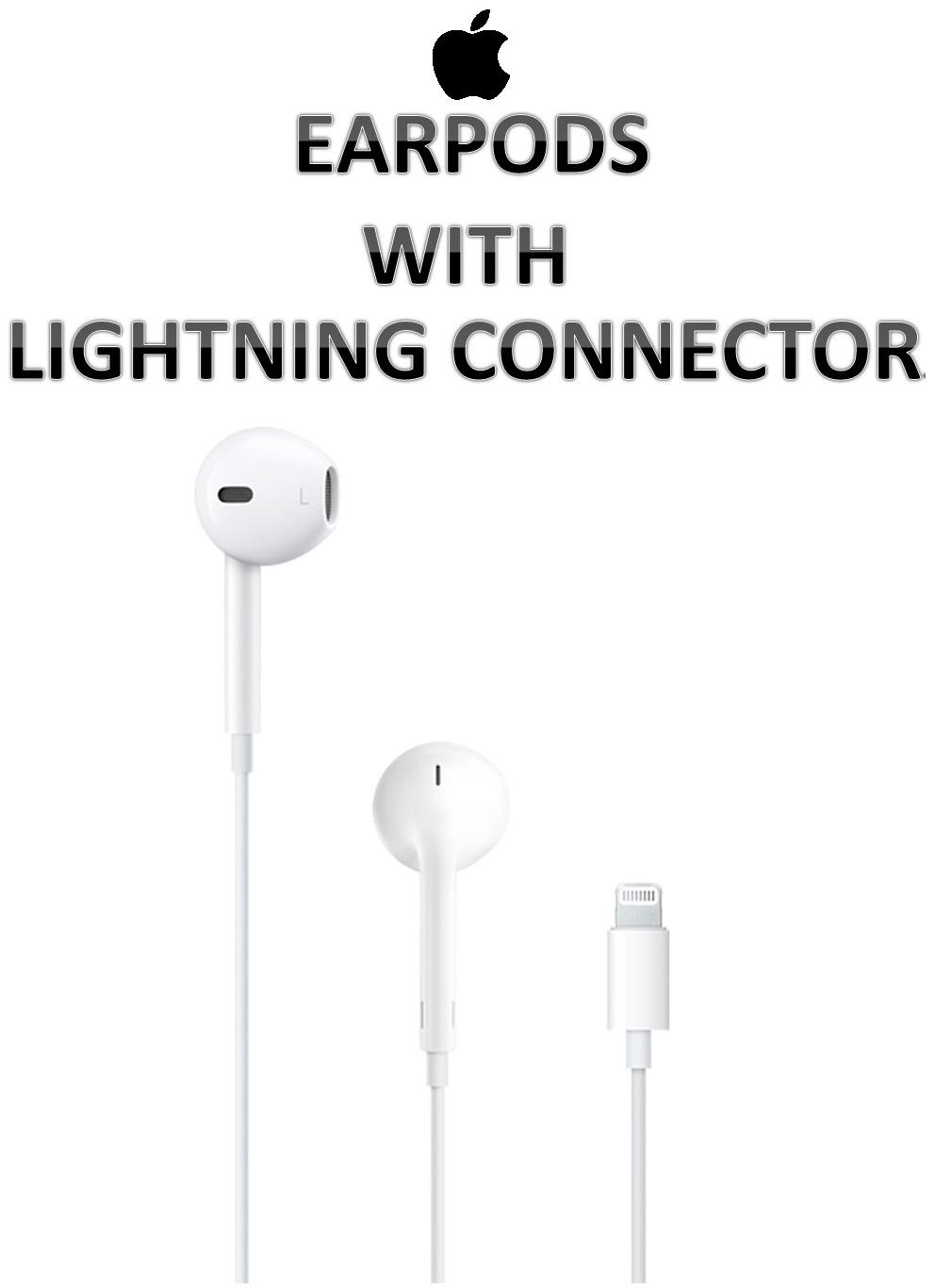 【原廠吊卡盒裝】蘋果 APPLE EarPods 具備 Lightning 連接器 附有線控器與麥克風 立體聲 耳塞式