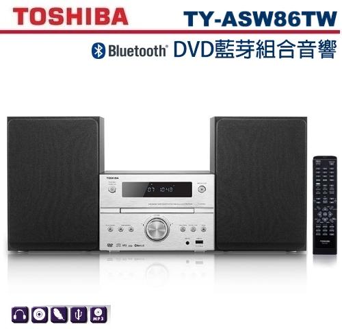 【佳麗寶】-(TOSHIBA)DVD/MP3/USB/藍芽床頭音響【TY-ASW86TW】