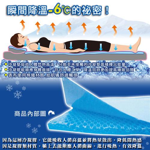日本熱賣~冰Cool降溫↓涼感凝膠單人床墊(70*80cm)!冰墊/冷凝床墊!取代涼蓆! ★班尼斯國際家具名床