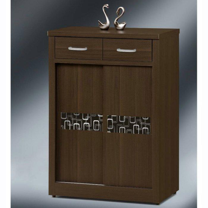 【尚品傢俱】K-EY-102 幾何 胡桃3尺推門鞋櫃~另有4尺鞋櫃/鞋櫥/收納櫃/玄關櫃/貯藏櫃/置靴櫃/拖鞋櫃