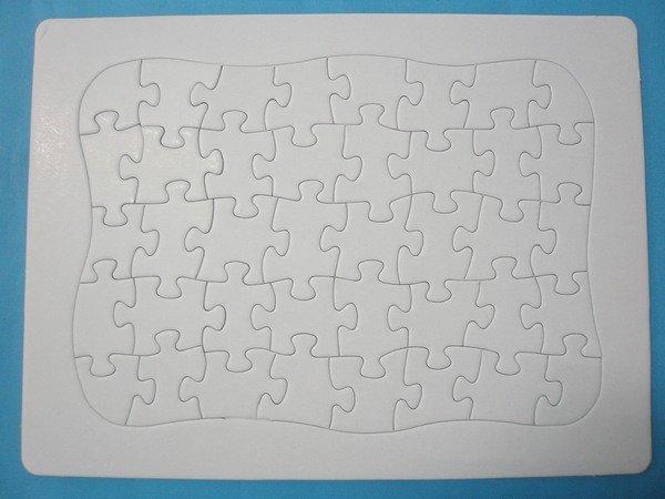 空白拼圖 彩繪拼圖 DIY拼圖(新弧形/小40片)27.5cm x 21cm/一個入{定18}