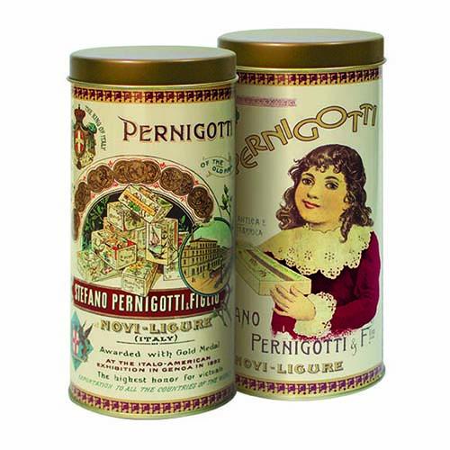 【派尼克帝PERNIGOTTI】義大利進口金磚巧克力★復古圓罐系列/奶油白★經典榛果牛奶巧克力