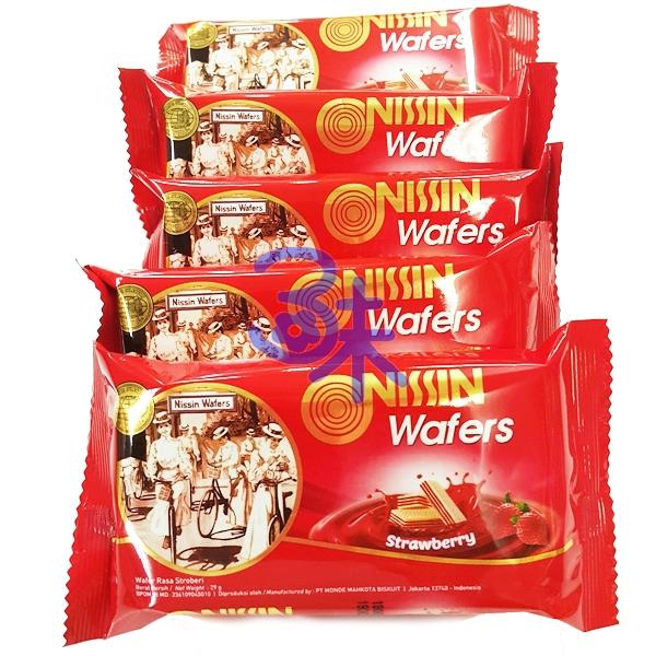 (印尼) NISSIN 日清威化餅-草莓味 1包 600 公克 特價 106元 【 8888166339965 】