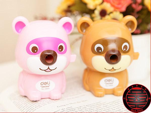《不囉唆》韓國文具 2款0669浣熊歡歡造型削鉛筆機(不挑色/款)【A223522】