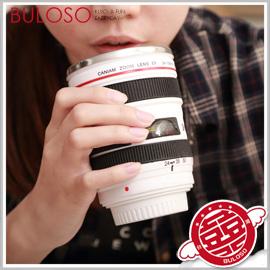 《不囉唆》白色五代自動蓋不鏽鋼內膽鏡頭杯 隨身杯 茶杯 保溫杯(不挑色/款)【A277006】