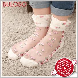 《不囉唆》【A278072】(可挑款) 多色可愛造型蕾絲襪 玫瑰/小花/海錨/民族風刺繡短襪