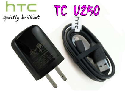 HTC TC U250 原廠旅充頭+ M410 充電線(MicroUSB)~適用:Incredible S/S710E/Desire S/S510E/WildFire S/A510E/Sensatio..