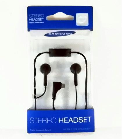 Samsung 原廠耳機(吊卡裝)MicroUSB接頭~適用:W319/Galaxy 580/S8300H/E2550/OmniaPro B7330/Marvel S5560~