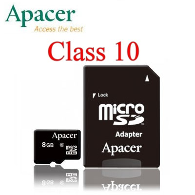 【UHS-1~含轉】APACER MicroSD 8G/TF/Micro SD/TF 8GB ~宇瞻終身保固~Class 10