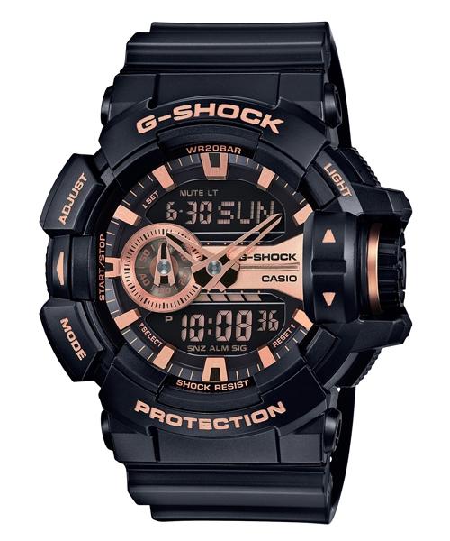 國外代購 CASIO G-SHOCK GA-400GB-1A4 雙顯 運動防水手錶腕錶電子錶男女錶 黑玫瑰金
