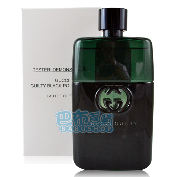 【巴布百貨】GUCCI Guilty Black 罪愛夜 男性淡香水 (90ml) Tester