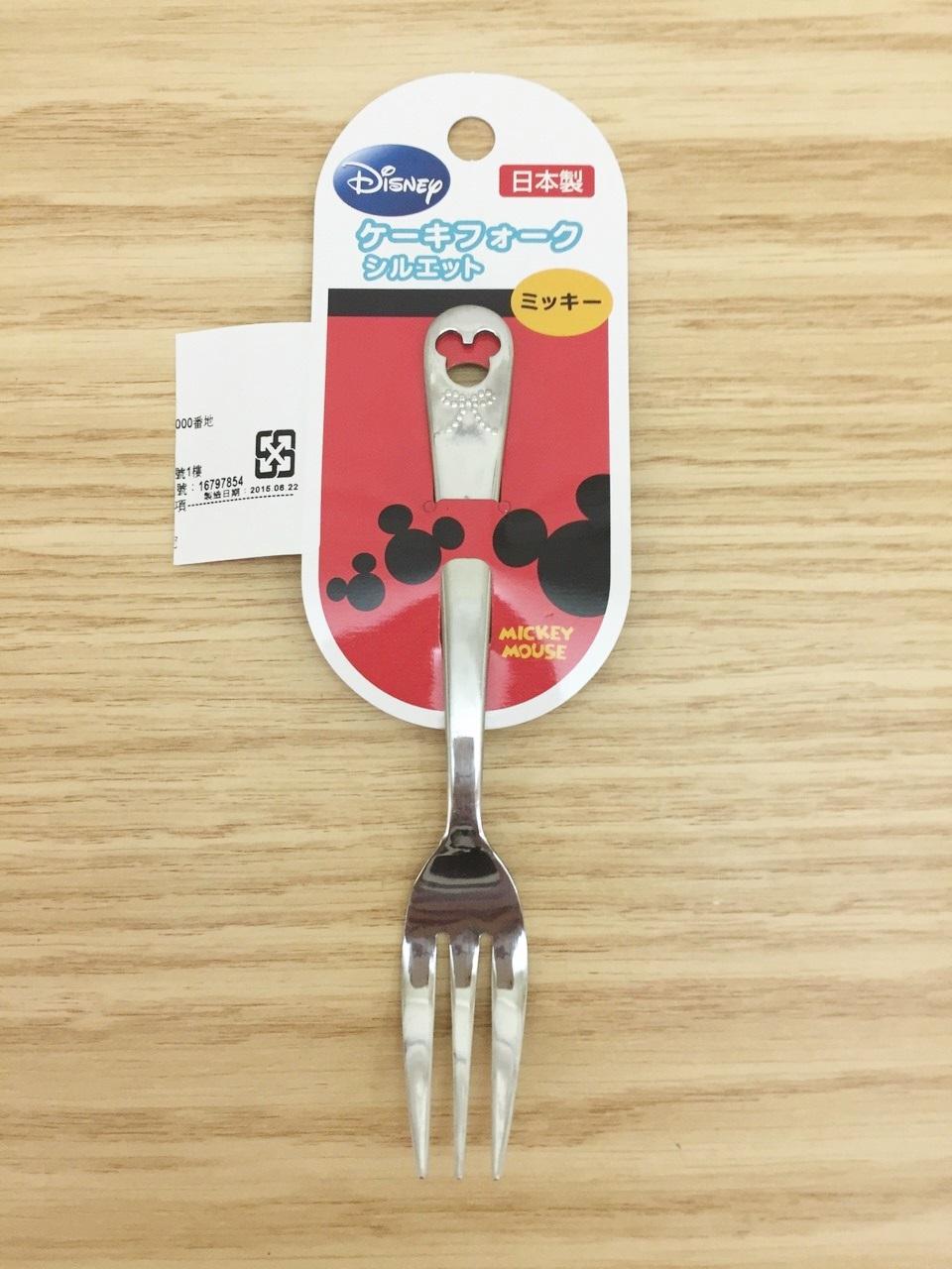 【真愛日本】15112700006造型不鏽鋼叉子小-MK頭 迪士尼 米老鼠米奇 米妮 叉子 水果叉 食器 餐具