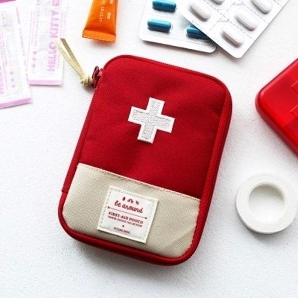 ?MY COLOR?旅行便攜藥品收納包 戶外 醫藥箱 藥包 收納 拉鍊 醫療 急救 小物包 大款 【B33】
