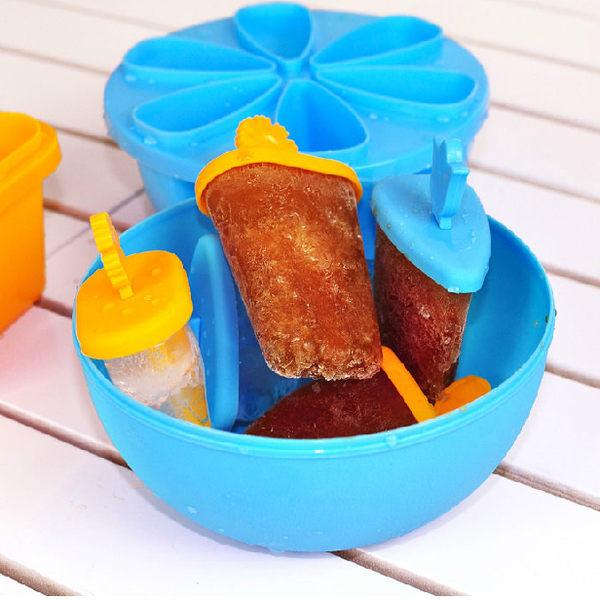 PS Mall 自製刨冰雪糕模具 製冰盒 製冰器 果凍模具 冰棒模具 附碗蓋 製冰盒【J2020】