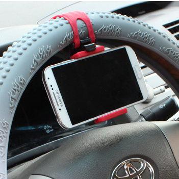 PS Mall 日韓熱賣 蘋果 三星 HTC 多功能 車用手機支架 方向盤手機導航支架 車用手機座【J090】