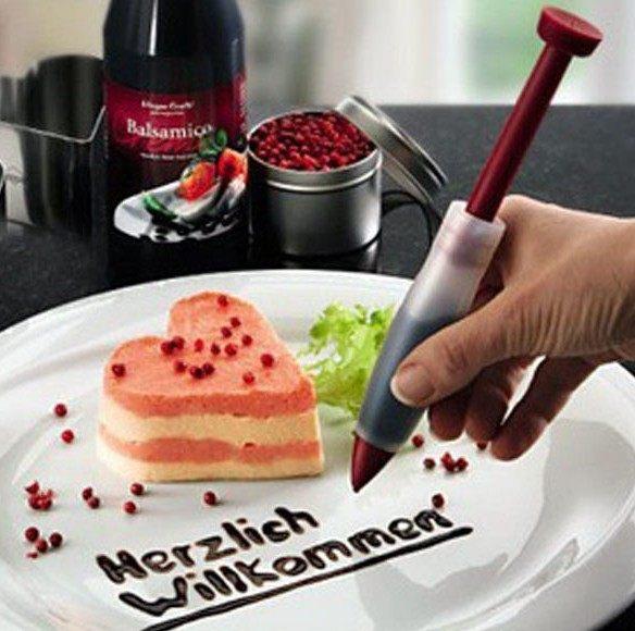 PS Mall╭*矽膠奶油筆/針筒型矽膠巧克力醬繪畫筆/蛋糕裝飾筆【J2308】